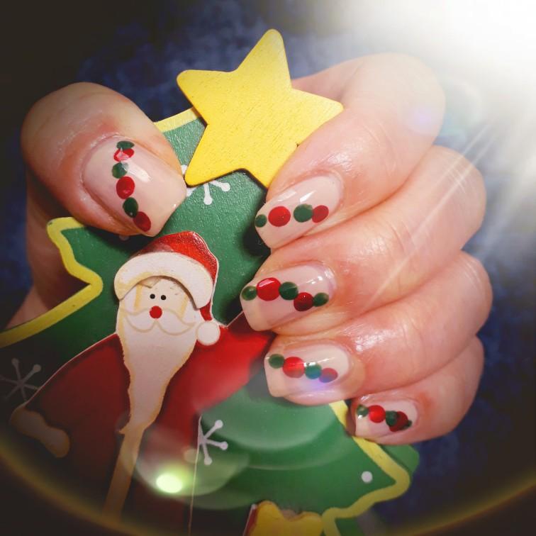 クリスマスネイル。